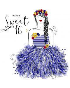 Happy Sweet 16 Card