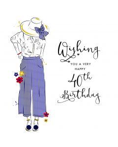 Wishing you a very Happy 40th Birthday Card