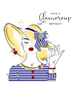 Have a Glamorous Birthday Card
