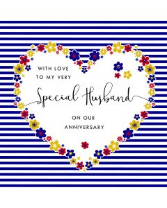 With love to my very Special Husband on our Anniversary Card