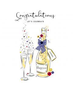 Congratulations, Let's Celebrate Card