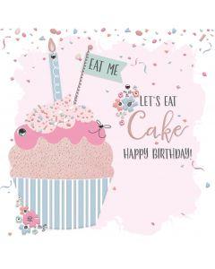 Let's Eat Cake, Happy Birthday Card