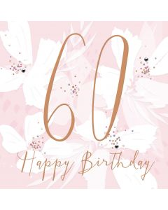 Happy Birthday, 60 Card