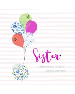 Sister - Wishing you a very Happy Birthday Card