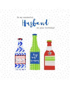 To my wonderful Husband on your birthday card