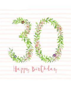 Happy Birthday - 30 Card