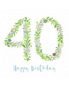 Happy Birthday - 40 Card