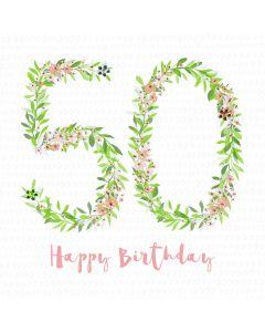 Happy Birthday - 50 Card