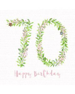 Happy Birthday - 70 Card
