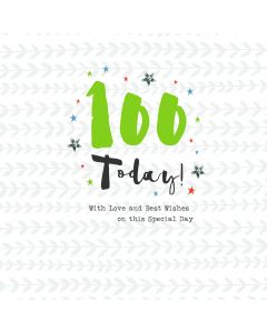 100 Today! With love and best wishes on this special day card
