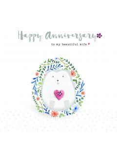 Happy Anniversary to my beautiful Wife
