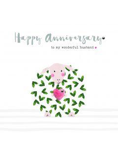Happy Anniversary to my wonderful husband card