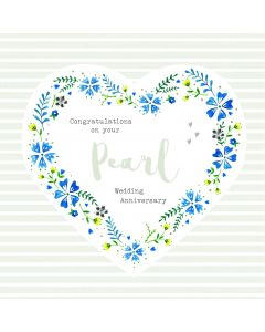 Congratulations on your Pearl Wedding Anniversary Card