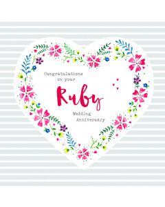 Congratulations on your Ruby Anniversary Card
