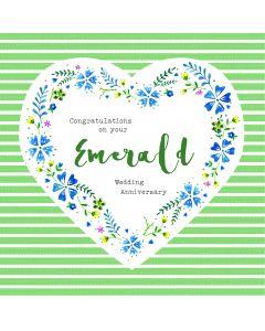Congratulations on your Emerald Wedding Anniversary Card