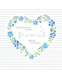 Congratulations on your Diamond Wedding Anniversary Card