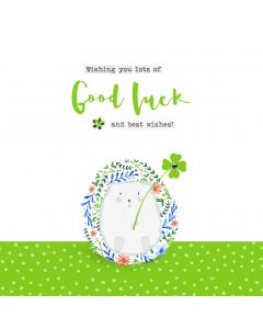 Wishing you lots of Good Luck and best wishes card