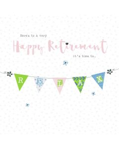 Here's to a very happy Retirement, it's time to relax card