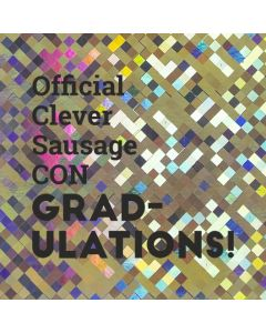 Offical Clever CON GRAD-ULATIONS!  - Holographic Congratulations Card