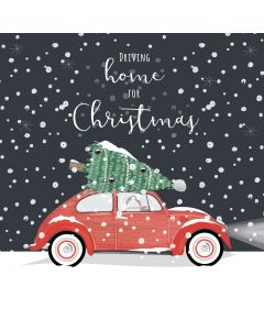 Driving Home for Christmas Card