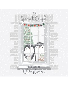 To a Special Couple with Love at Christmas Card