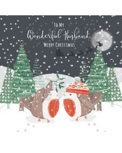 To my Wonderful Husband Merry Christmas Card
