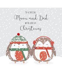 To a Special Mum and Dad with Love at Christmas Card