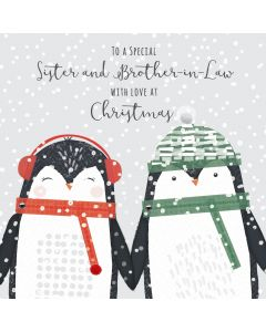 To a Special Sister and Brother in Law with Love at Christmas Card