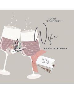 To my Wonderful Wife Happy Birthday