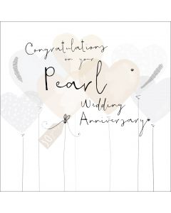 Congratulations on your Pearl Wedding Anniversary