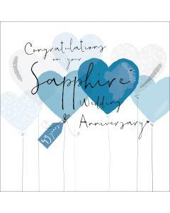 Congratulations on your Sapphire Wedding Anniversary