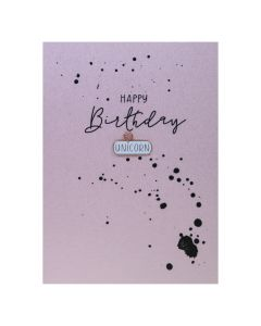 Happy Birthday UNICORN - Enamel Pin Card