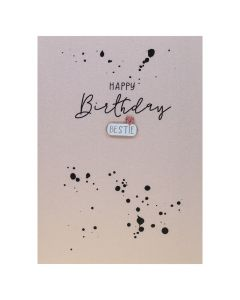Happy Birthday BESTIE - Enamel Pin Card