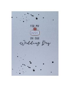 For my BRIDE on our Wedding Day - Enamel Pin Card