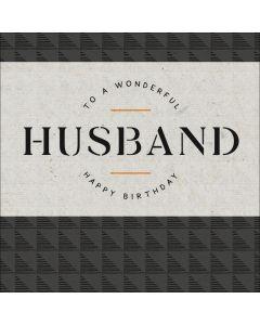 To a wonderful Husband, Happy Birthday