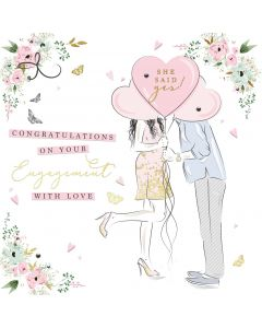 She said yes! Congratulations on your Engagement Card