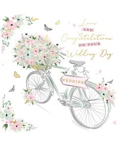 Love and Congratulations on your Wedding day card