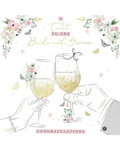 A Toast to the Bride and Groom Card
