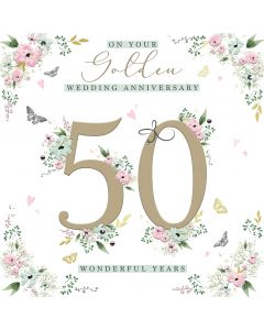 On your Golden Wedding Anniversary 50 wonderful years card